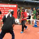 スポーツ祭りで「ボッチャ」を体験